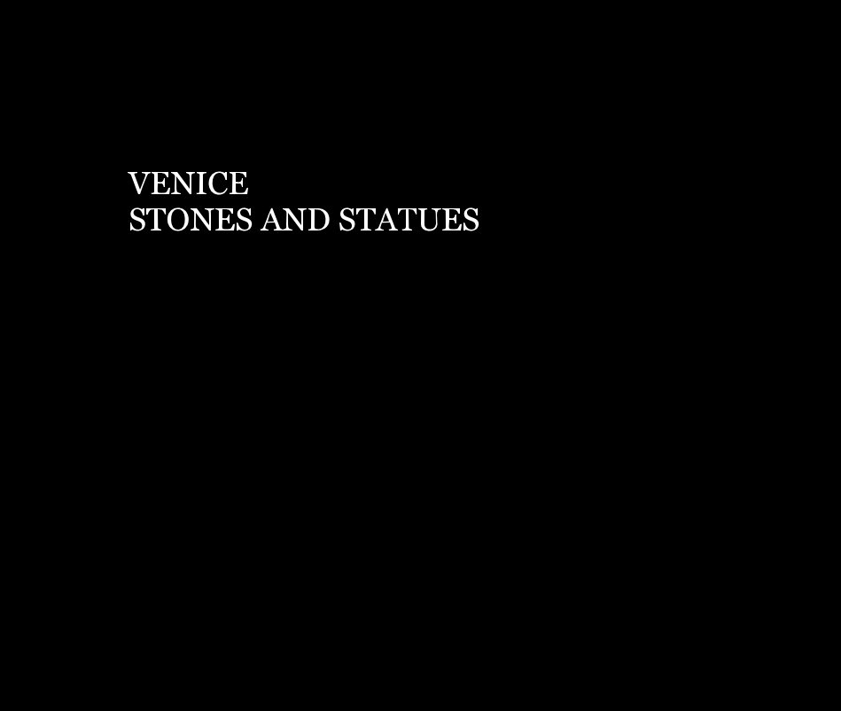 View VENICE  STONES AND STATUES by Roger Branson