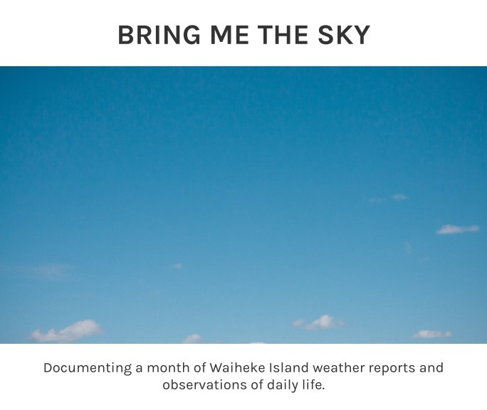 View Bring Me The Sky by Leonie Wise