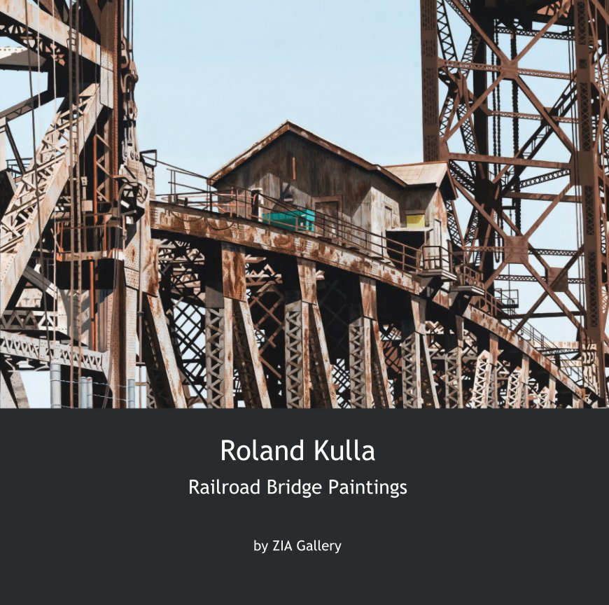 View Roland Kulla    Railroad Bridge Paintings by ZIA Gallery