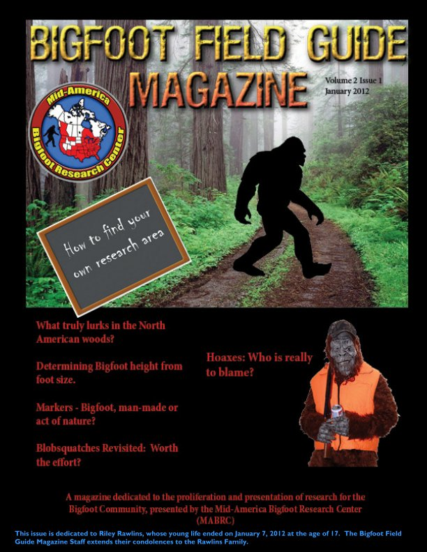 View Bigfoot Field Guide January 2012 by DW Lee