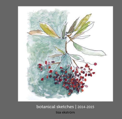 View botanical sketches by lisa ekström