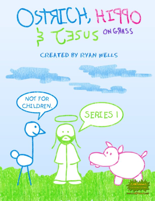 View Ostrich, Hippo & Jesus On Grass - Series 1 by Ryan Wells