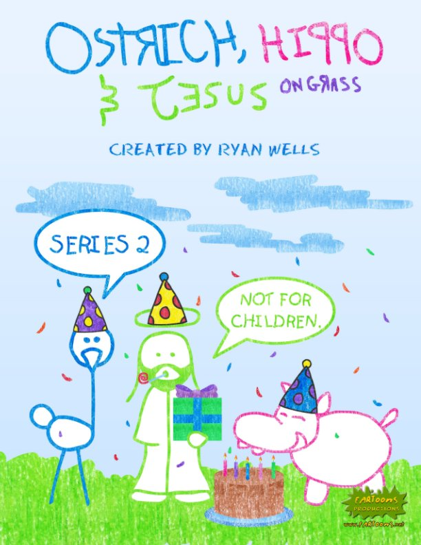 View Ostrich, Hippo & Jesus On Grass - Series 2 by Ryan Wells