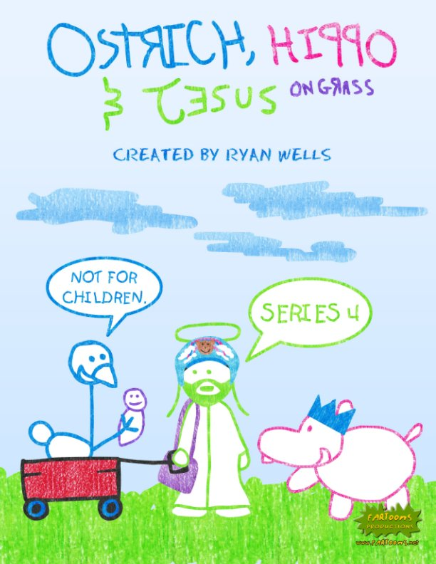 View Ostrich, Hippo & Jesus on Grass - Series 4 by Ryan Wells