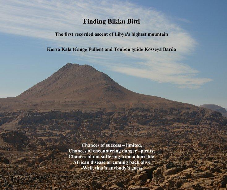 View Finding Bikku Bitti by Korra Kala (Ginge Fullen) and Toubou guide Kosseya Barda