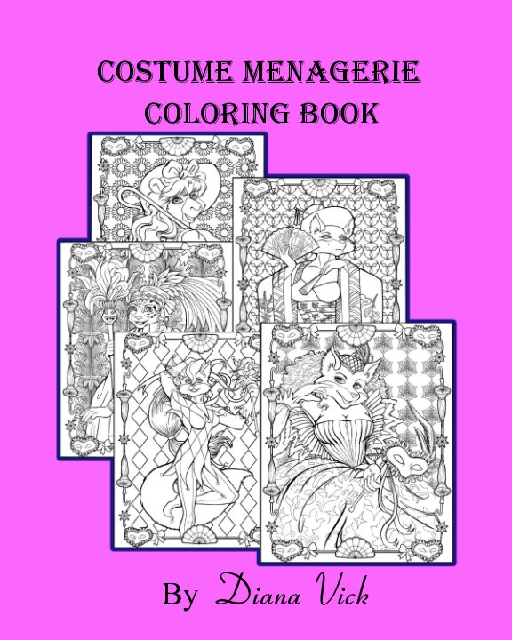 View Costume Menagerie Coloring Book by Diana Vick