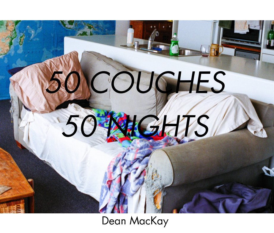 View 50 Couches in 50 Nights - deluxe hardcover by Dean MacKay