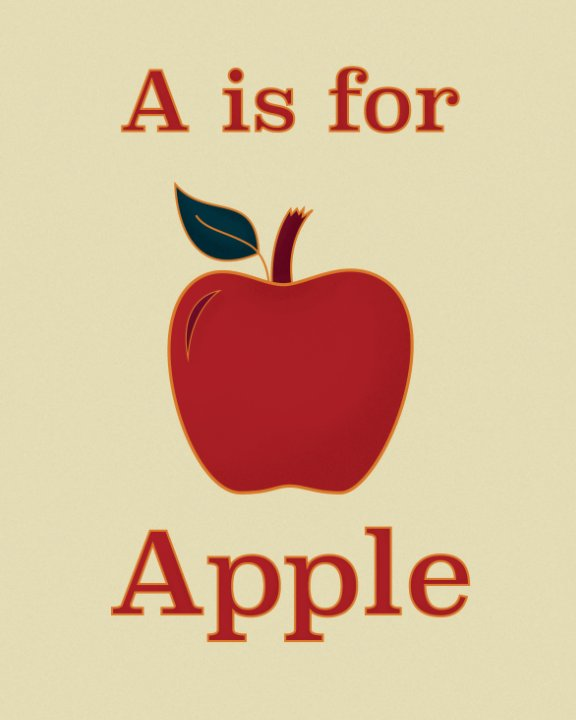View A is for Apple by Michelle Francis