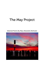 The May Project - Poetry pocket and trade book