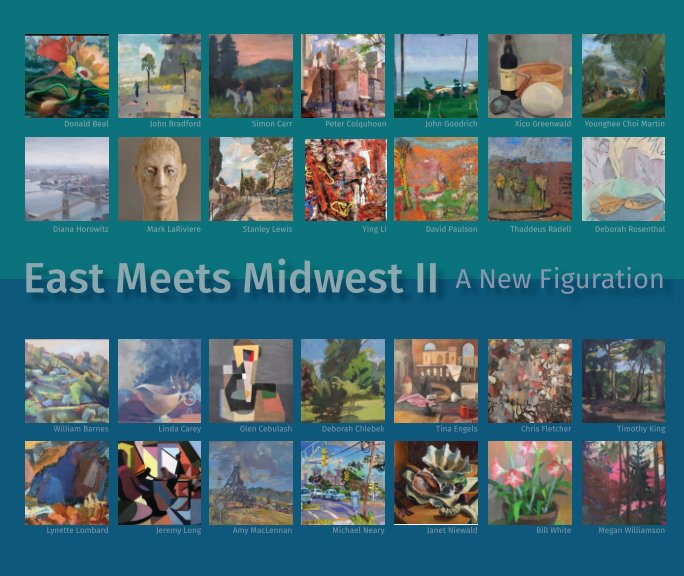 View East Meets Midwest II: A New Figuration W/M 2017 by Timothy King