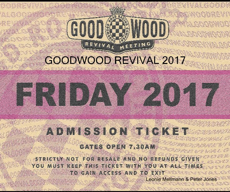 View GOODWOOD REVIVAL 2017 by Leonie Mellmann & Peter Jones