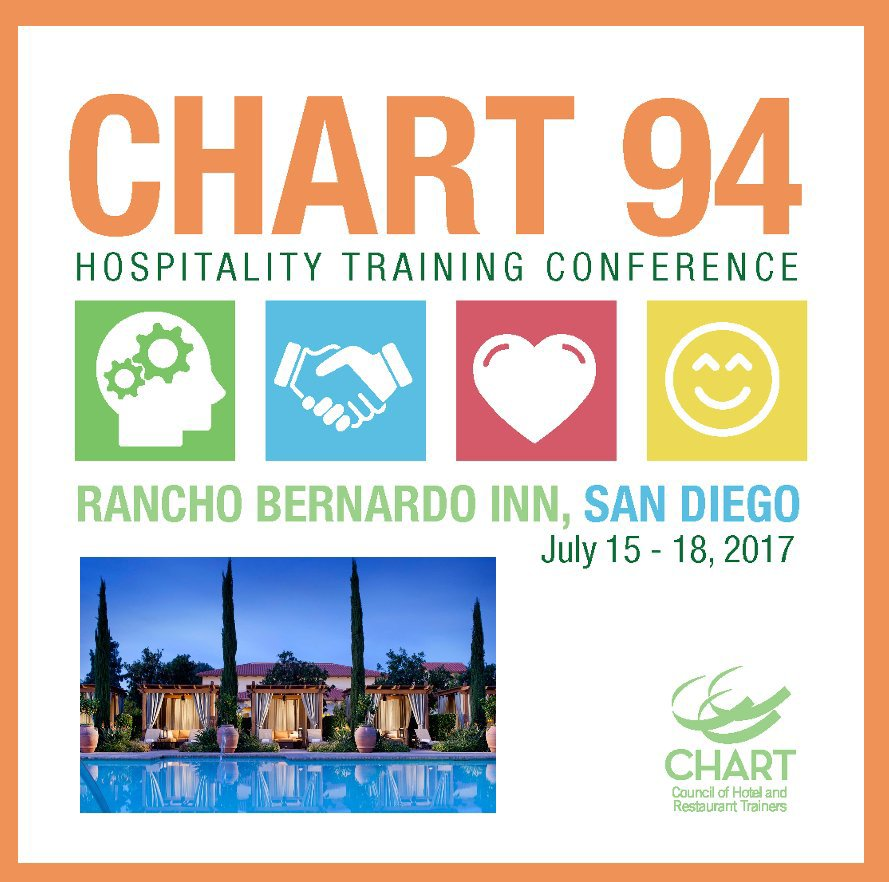 View CHART 94 Hospitality Training Conference San Diego by Lisa Marovec