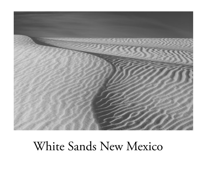 View White Sands New Mexico  - Photographs by Marjorie Kaufman by Marjorie G. Kaufman