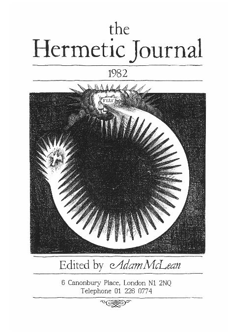 View The Hermetic Journal 1982 by Adam McLean