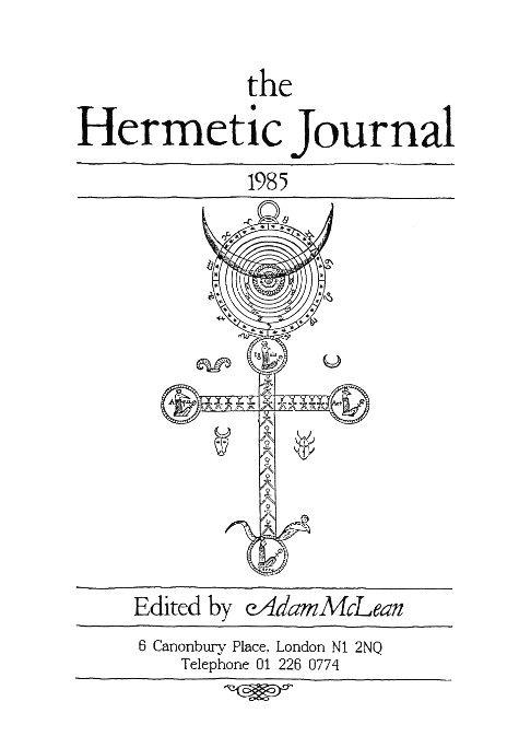 View The Hermetic Journal 1985 by Adam McLean