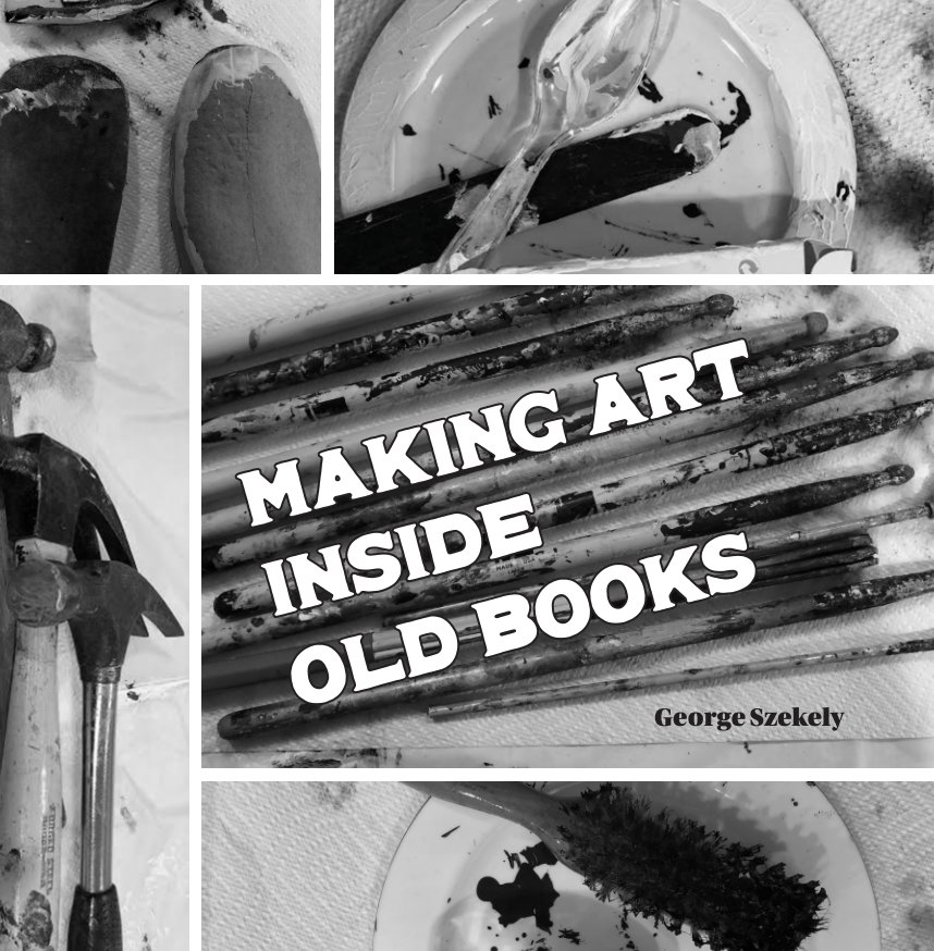 View Making Art Inside Old Books by George Szekely