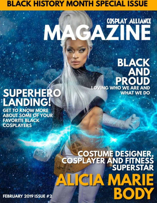 View Cosplay Alliance Magazine Black History Month Special Issue by Individual Cosplayers