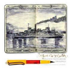 Moleskin Sketchbook Drawings and museum of hand bound sketchbooks - Fine Art photo book