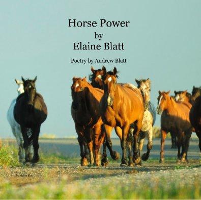 Horse Power by Elaine Blatt Poetry by Andrew Blatt - Arts & Photography Books photo book