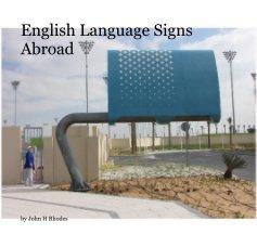 English Language Signs Abroad - Travel photo book