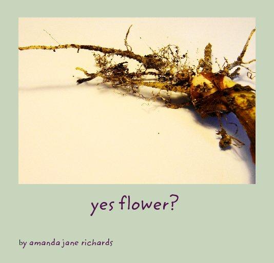 View yes flower? by amanda jane richards
