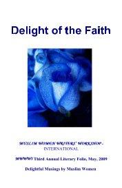 Muslim Women Writers' Workshop International Third Annual Folio, May 2009 - Religion & Spirituality pocket and trade book