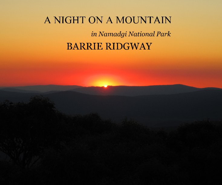 View A NIGHT ON A MOUNTAIN by BARRIE RIDGWAY