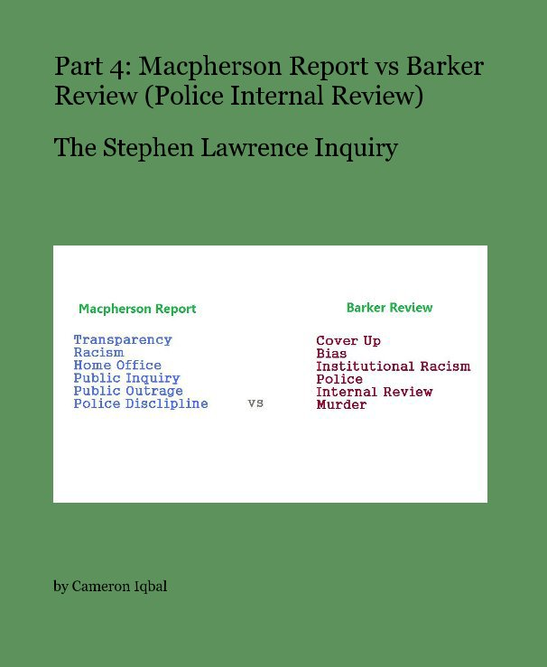 stephen lawrence inquiry report