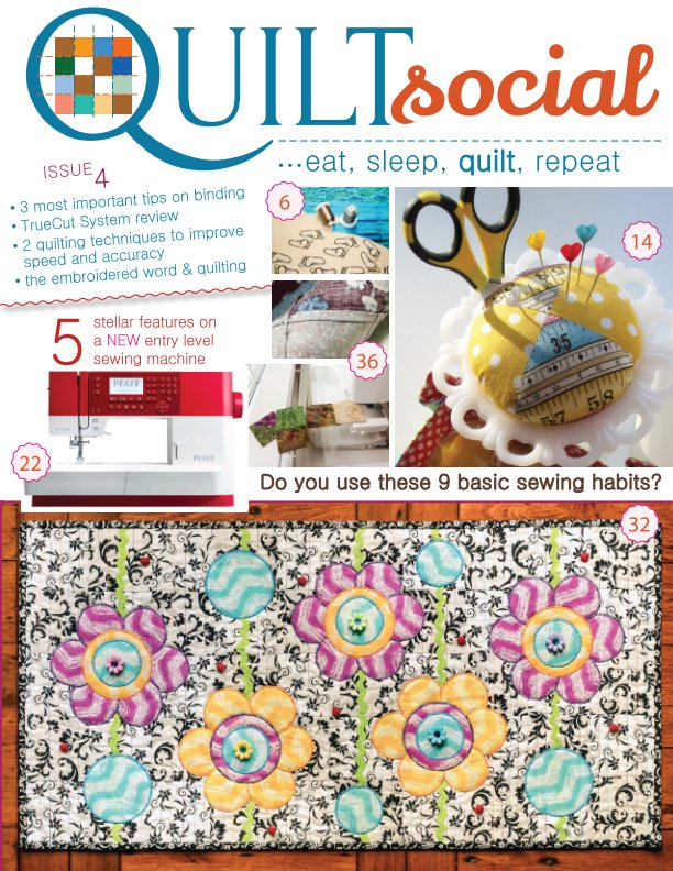 View QUILTsocial Issue 4 by A Needle Pulling Thread