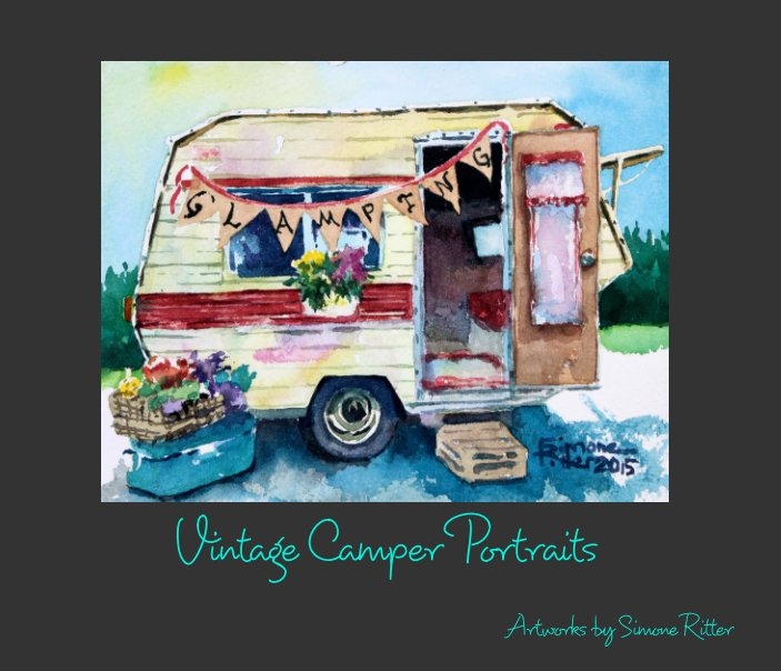 View Vintage Camper Portraits by Simone Ritter Art