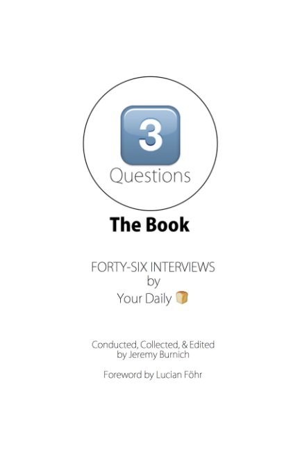 View 3 Questions | The Book by Jeremy Burnich