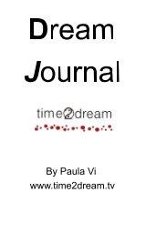 "Time2Dream ""Dream Journal"" book cover"