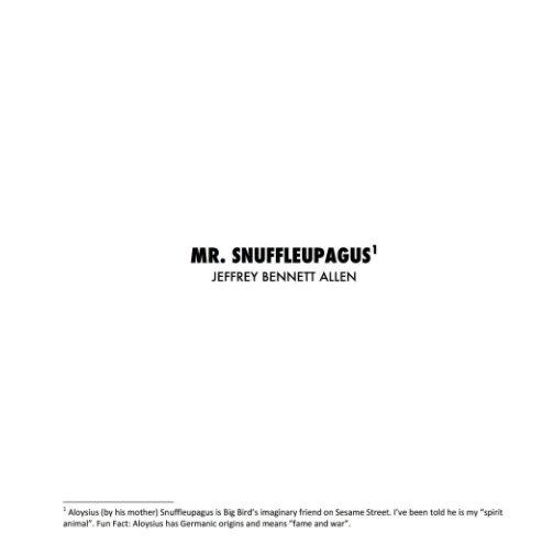 Mr Snuffleupagus Door Jeffrey Bennett Allen Blurb Boeken