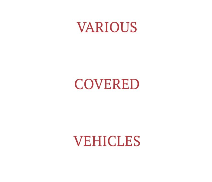 View Various Covered Vehicles by Peter Bartlett