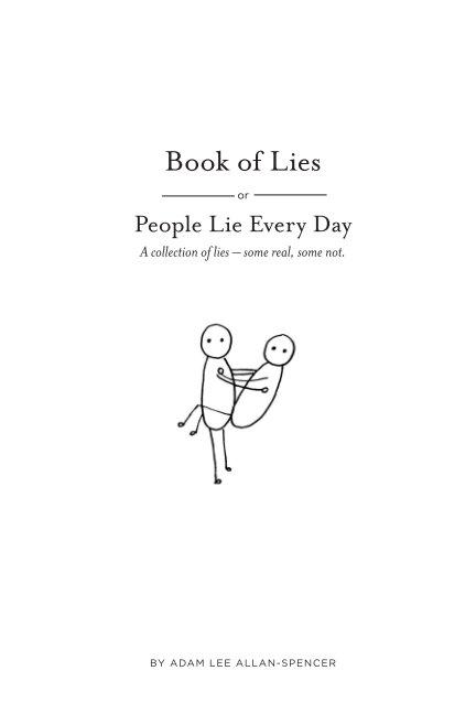 View Book of Lies by Adam Lee Allan-Spencer