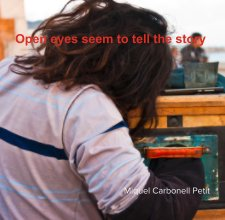 Open eyes seem to tell the story book cover