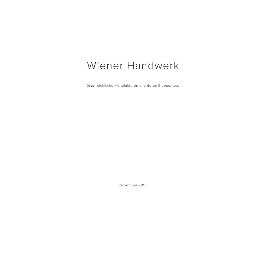 Wiener Handwerk nach Nadja Gusenbauer anzeigen