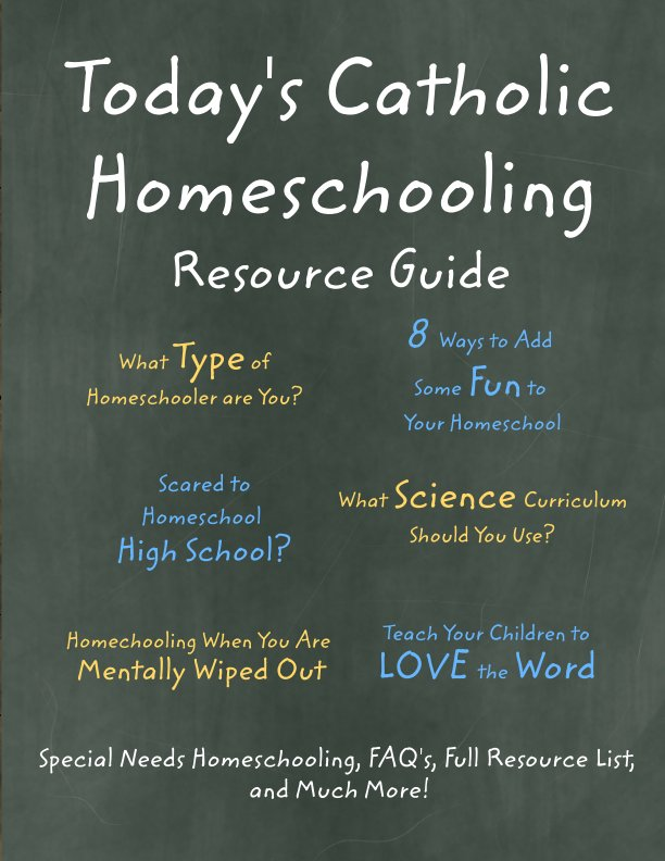 View Today's Catholic Homeschooling Resource Guide by Patrice Fagnant-MacArthur (Editor)
