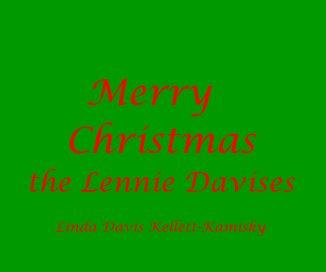 Merry Christmas the Lennie Davises book cover