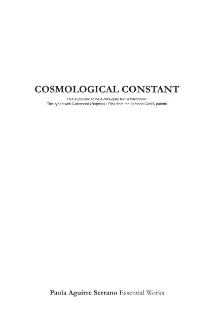 Cosmological Constant II nach Paola Aguirre anzeigen
