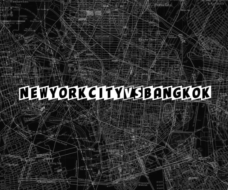 View New York city VS Bangkok by Phil Jarry