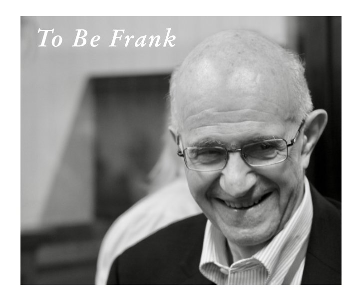 View To Be Frank Contributor's Book by McGill Faculty of Law