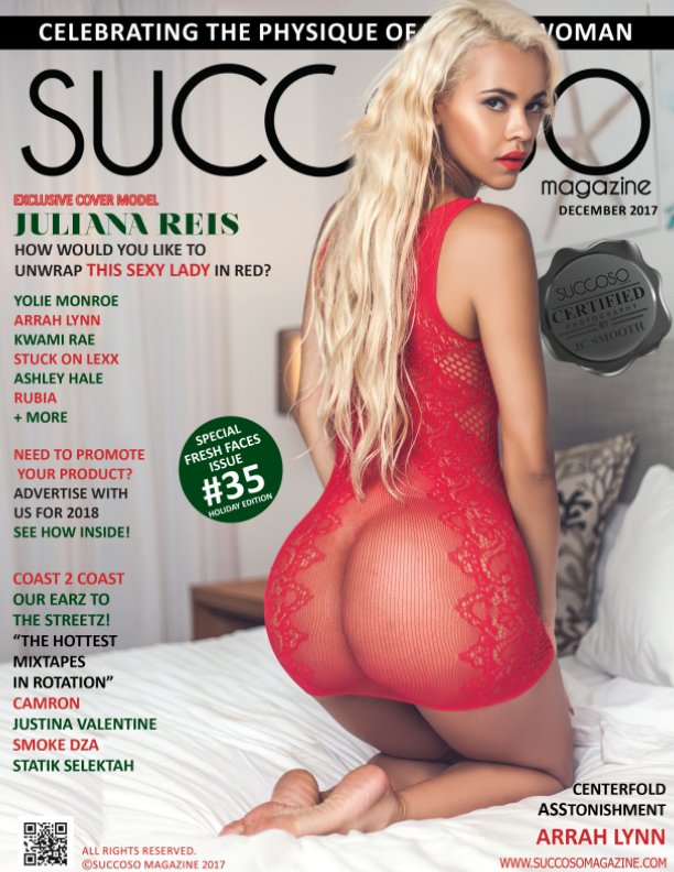 View SUCCOSO MAGAZINE DECEMBER 2017 DOUBLE COVER MODELS YOLIE MONROE / JULIANA REIS by SUCCOSO MAGAZINE