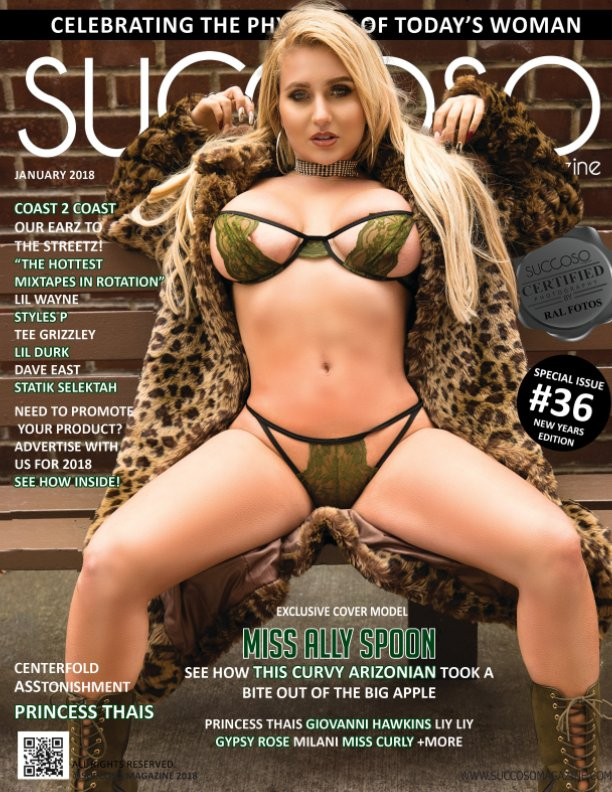 View Succoso Magazine Issue #36 featuring double Cover Models Miss Ally Spoon/Miss Curly by SUCCOSO MAGAZINE