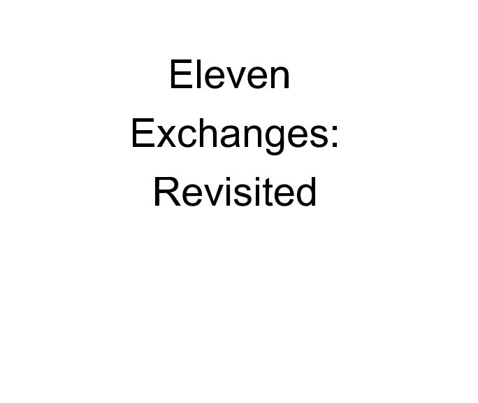 View Eleven Exchanges: by Edited by J. Alan Constant