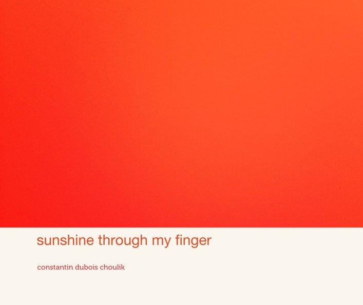 View sunshine through my finger by constantin dubois choulik