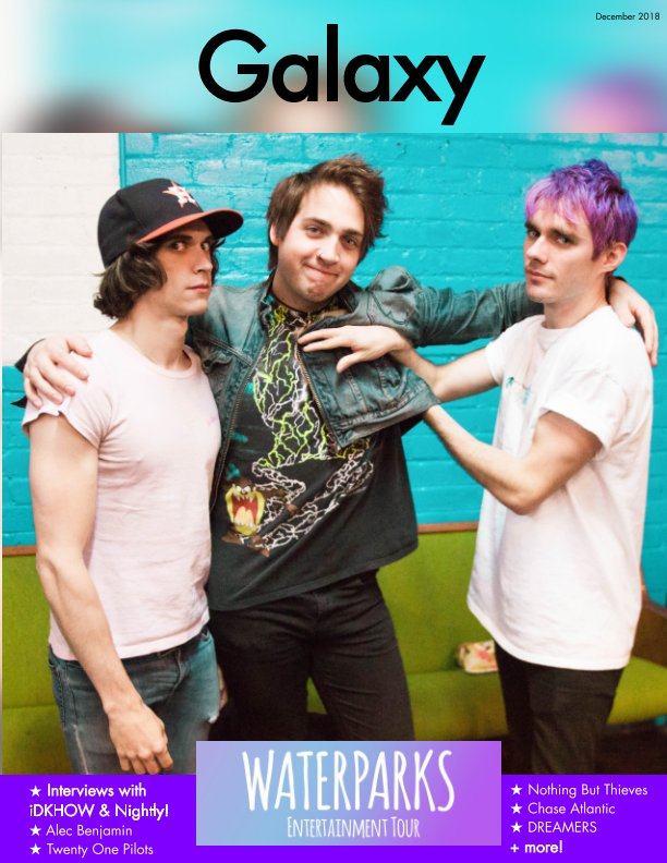View Galaxy Magazine Issue 1: Waterparks Entertainment Tour (Waterparks Cover) by Yising Kao