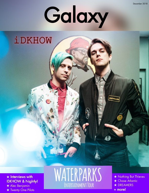 View Galaxy Magazine Issue 1: Waterparks Entertainment Tour (iDKHOW Cover) by Yising Kao