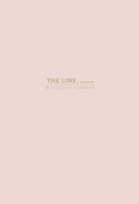 View The Line We Live On Blogging Planner (Pink) by Amanda Nicholls + Chris Downes