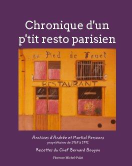 Chronique d'un p'ti resto parisien book cover